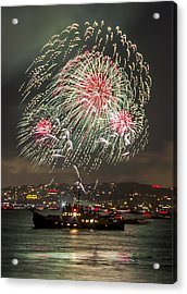 Golden Gate Bridge 75th Anniversary Fireworks 18 Acrylic Print