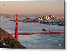 Acrylic Print featuring the photograph Golden Gate Bridge And San Francisco 1 by Lee Kirchhevel