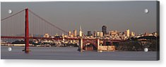 Acrylic Print featuring the photograph Golden Gate Bridge And San Francisco Panoramic by Lee Kirchhevel