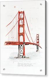 Golden Gate Bridge Acrylic Print by Astrid Rieger