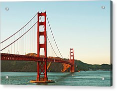 Golden Gate Bridge At Sunset Acrylic Print