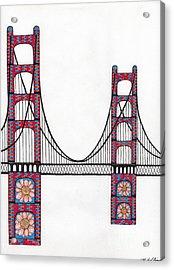 Golden Gate Bridge By Flower Child Acrylic Print