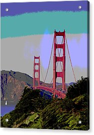 Golden Gate Bridge Acrylic Print by Charles Shoup
