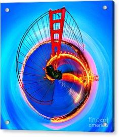 Golden Gate Bridge Circagraph Acrylic Print by Az Jackson