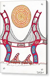 Golden Gate Bridge Dancing In The Wind Acrylic Print