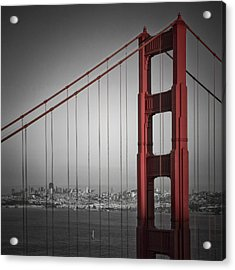 Golden Gate Bridge - Downtown View Acrylic Print