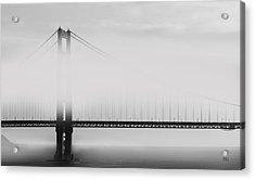 Golden Gate Bridge - Fog And Sun Acrylic Print by Ben and Raisa Gertsberg