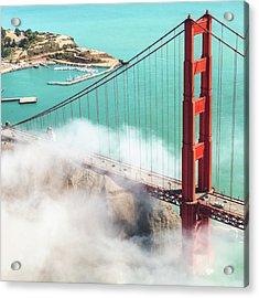 Golden Gate Bridge Acrylic Print by Franckreporter