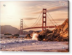 Golden Gate Bridge From Baker Beach Acrylic Print by Karsten May