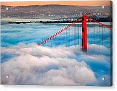 Golden Gate Bridge In Fog Acrylic Print