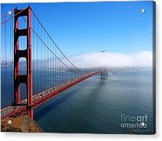 Golden Gate Bridge - Into The Mist Acrylic Print