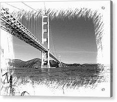 Acrylic Print featuring the photograph Golden Gate Bridge by Kathy Churchman