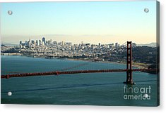 Golden Gate Bridge Acrylic Print by Linda Woods