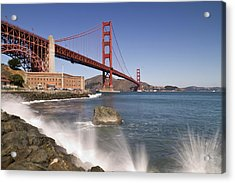 Golden Gate Bridge Acrylic Print by Melanie Viola