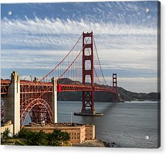 Golden Gate Bridge Morning Light Acrylic Print