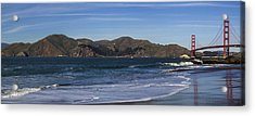 Golden Gate Bridge Panorama Acrylic Print by Brad Scott