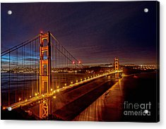 Golden Gate Bridge Acrylic Print by Peter Dang