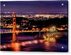 Golden Gate Bridge Acrylic Print by Robert Rus