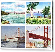 Golden Gate Bridge San Francisco California Acrylic Print by Irina Sztukowski