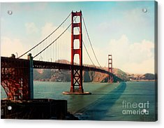 Golden Gate Bridge Acrylic Print by Sylvia Cook