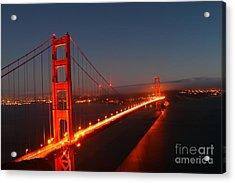 Golden Gate Bridge Acrylic Print by Theresa Ramos-DuVon