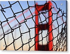 Golden Gate Bridge Through The Fence Acrylic Print by Theresa Ramos-DuVon