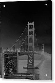 Golden Gate Bridge To Sausalito Acrylic Print by Connie Fox