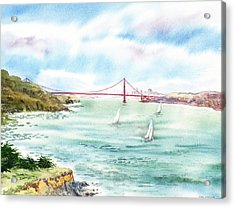 Golden Gate Bridge View From Point Bonita Acrylic Print