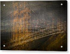 Golden Gate Chaos Acrylic Print