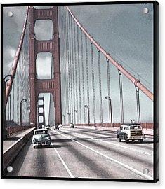Golden Gate Crossing Acrylic Print by Eric  Bjerke Sr