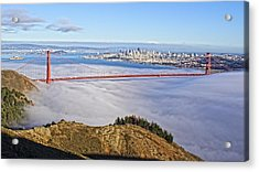 Golden Gate Acrylic Print by Dave Files