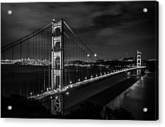 Golden Gate Evening- Mono Acrylic Print