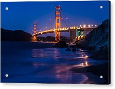 Golden Gate Glow Acrylic Print