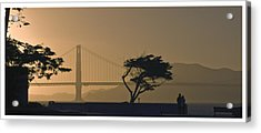 Golden Gate Lovers Acrylic Print