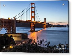Acrylic Print featuring the photograph Golden Gate Night by Kate Brown