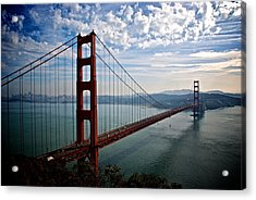 Golden Gate Open Acrylic Print by Eric Tressler