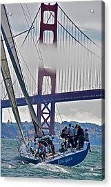 Golden Gate Sailing Acrylic Print by Steven Lapkin