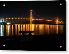 Golden Gate Acrylic Print by Steven Reed