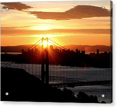 Acrylic Print featuring the photograph Golden Gate Sunrise 12-2-11 by Christopher McKenzie