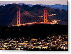 Golden Gate Sunrise Acrylic Print