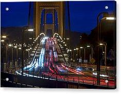 Golden Gate Traffic Acrylic Print
