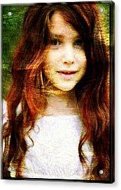 Golden Girl Acrylic Print by Gun Legler