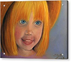 Acrylic Print featuring the painting Golden Girl by Janet Greer Sammons