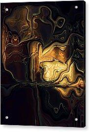Golden Glory Acrylic Print