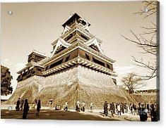 Golden Glow - Kumamoto Castle - Kyushu - Japan Acrylic Print