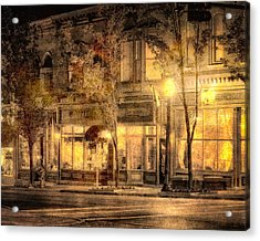 Golden Glow Acrylic Print by William Beuther