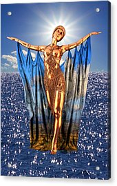 Golden Goddess Acrylic Print