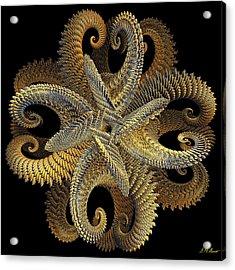 Golden Grace Acrylic Print