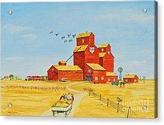 Golden Harvest Acrylic Print by Virginia Ann Hemingson