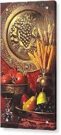 Golden Harvest With Red Wine Acrylic Print by Takayuki Harada